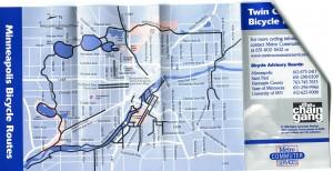 Minneapolis Bike Routes 1998