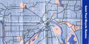 St. Paul Bicycle Routes - 1998