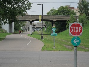 Midtown Greenway At-Grade Crossing